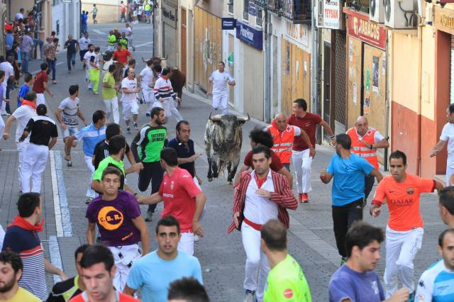 First encierro, 30/08/15 (Photo: Antonio Tanarro / El Norte de Castilla)