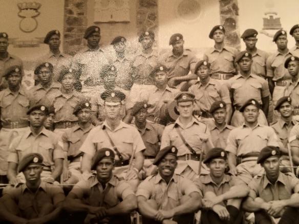 Lt. Noel Chandler, West India Regiment, Harman Barracks, Kingston Jamaica, c.1960 (Photo courtesy of Deirdre Carney)